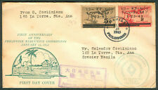 1943 PHILIPPINE EXECUTIVE COMMISSION Japanese Occupation Censor FDC Cover