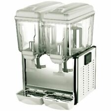 More details for polar double chilled juice dispenser in grey - capacity - 24 litres