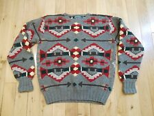 Ralph Lauren Polo Country Hand Knit Wool Navajo Sweater LG Aztec Southwestern