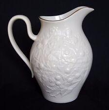 Lenox Blackberries Medium Porcelain Pitcher - Ivory / Cream Color with 24K Gold