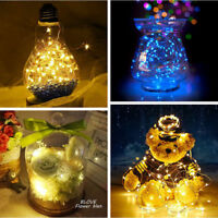 20/50/100 LED String Copper Wire Fairy Lights Lamp Battery Powered Waterproof