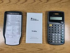 TI-30XA Texas Instruments Scientific Calculator with Cover and Manual Tested