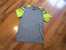 Lululemon mens metal vent tech short sleeve tee heathered coal and green 