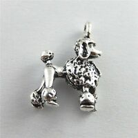 51433 Antique Silver Alloy Pet Dog Poodle Charms Pendants Findings Jewelry 10pcs