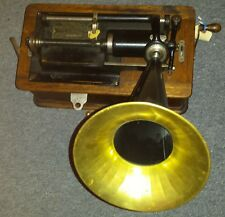 Rare Edison Home Cylinder Phonograph record player vintage antique
