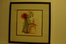 Vintage Embossed Art By Mary Vickers With COA