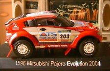 MITSUBISHI PAJERO EVOLUTION 2004 #203 1/43 PETERHANSEL COTTRET SOLIDO 1596 DAKAR