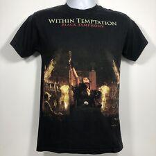 Within Temptation Black Symphony T Shirt Tee Men's Size S Symphonic Metal Tee