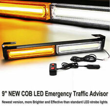 Amber White 36W COB LED Emergency Warning Flash Grill Roof Strobe Light Bar