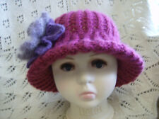 Mini Mimm -Brimmed Hat - Child (4 - 12 yrs)  Easy Knitting Pattern