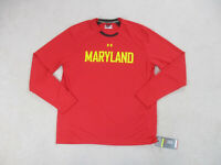 NEW Under Armour Maryland Terrapins Shirt Adult Large Red Basketball Mens