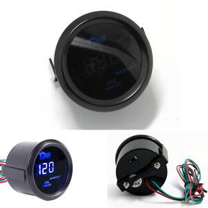 """12V 2"""" 120 PSI Digital Blue LED Car Oil Pressure Gauge Meter With Warning Light"""