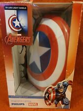 Marvel, Captain America, 3D Wall Light  Captain America's Sheild Sticker Philips