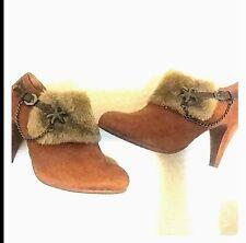 Brown Lasonia Bootie/Heels
