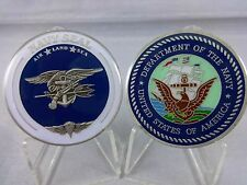 NAVY SEAL Sea Air Land Challenge Coin USN NSWC Special Warfare Command Military