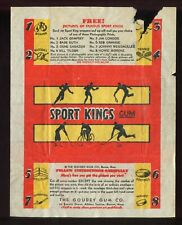 "1933 Goudey Baseball ""Sport Kings Gum"" Wax Pack Wrapper RARE #6 PR"