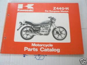 KAWASAKI Z440-H EUROPEAN MARKET PARTS CATALOG ORIGINAL FACTORY BOOK 1981