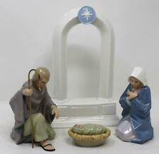 Hallmark Nativity Holy Family and Stable Mary Joseph Baby Jesus Figurines