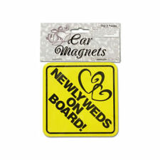 Newlyweds on Board w/ Hearts Car Magnets - 2 pk - Wedding Automobile Bride Groom