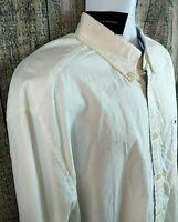 NEW Tommy Hilfiger Mens Button Down Shirt Sz XL Classic Fit White Cotton L/S NWT