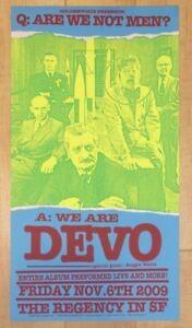 2009 Devo - San Francisco Silkscreen Concert Poster by Firehouse/Ron Donovan