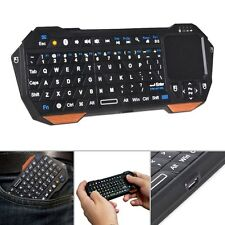 Wireless Bluetooth Mini Keyboard With Multi-Touch Pad For PC Smart TV 10M Remote