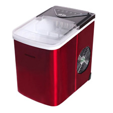 Frigidaire Ice Maker 26-lb. Bullet-Shaped Stainless-Steel Red Efic123-B-Ssred