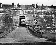New 8x10 Civil War Photo: Sally Port of Fort Marion in Saint Augustine, Florida