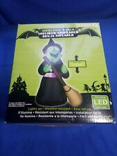 Gemmy Lighted Witch Halloween Airblown Inflatable 4ft Yard Decoration