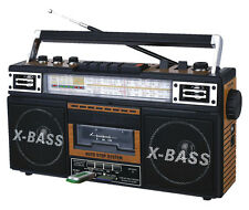 QUANTUM FX QFX AM/FM/SW1-SW2 4 BAND RADIO CASSETTE TO MP3 CONVERTER USB SDNEW