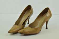 Vintage Marquise High Heels Size 5 K95689 Skin Cream Tan Brown Color