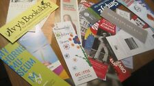 BOOKMARKS, LOT OF 10  RANDOMLY ASSORTED BOOKMARKS, ALL UNUSED, ALL DIFFERENT
