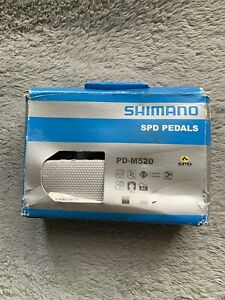 Shimano PD-M520-W SPD MTB Clipless Pedals w/ Cleats - New Item Old Stock Openbox