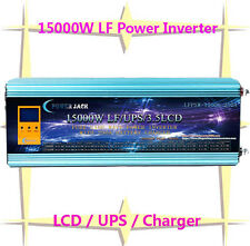 "60000W/15000W LF Pure Sine Wave Power Inverter 24VDC/230V AC 3.5""LCD/UPS/Charger"