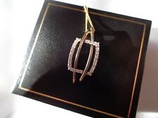 9ct gold Pendant and chain with cubic zirconia.