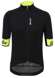 Beta 2.0 Cycling Windproof Jersey in Yellow Made in Italy by Santini Size S