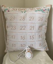 Wedding Countdown Pillow 30 Days Until I Do Countdown Calendar Shower Bride Gift