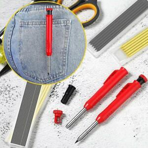 Carpenter Pencil Refill Leads Built-in Sharpener Deep Hole Marker Tool