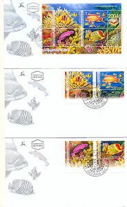 ISRAEL 2004 RED SEA FISH STAMPS AND S/SHEET FDC's