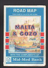 VALLETTA & SLIEMA (MALTA & GOZO) PLAN Touristique avec PLAN de VILLE