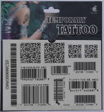 Two Dimension Code/ Barcode/ QR Code/ Zip Code Temporary Tattoo~Free P&P~H37