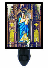 Night Light - Mary with Child Jesus - Church Statue - Virgin Mary and Baby Jesus