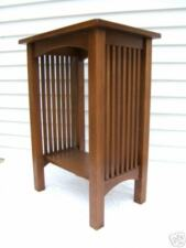 MISSION ARTS & CRAFTS TALL SPINDLE TABLE WITH SHELF FREE SHIPPING
