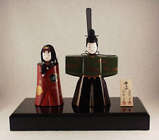 TRADITIONAL JAPANESE HINA DOLL SET | URUSHI-NURI LACQUER COATING | 漆塗・輪島塗雛(ひな)人形