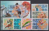 Guinea 964/69 + Block 71 postfrisch / Olympiade ................................