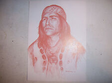 POSTCARD - NOWA CUMIC = DENNIS BANKS HEADBAND  FROM 1983 PAINTING BY TONY MASTRY