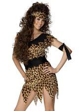 LADIES SEXY CRAZY CAVEWOMAN PREHISTORIC FANCY DRESS COSTUME HALLOWEEN SMIFFYS