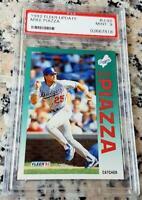 MIKE PIAZZA 1992 Fleer Rookie Card RC PSA 9 Low # NEW YORK METS HOF 427 HRs $$$
