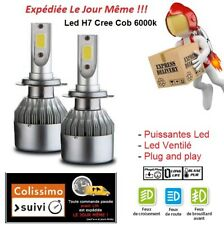 AMPOULES LED HID XENON X2 H7 72W 6000K FEUX PHARE TUNING BLANC RENAULT R21 TURBO