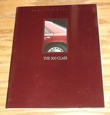 Original 1989 Mercedes-Benz 300 Class Deluxe Sales Brochure 89 E CE TE SE SEL